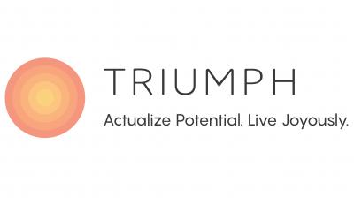 Triumph logo white background
